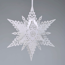 Load image into Gallery viewer, White Deco Snowflake Decoration