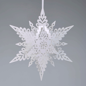 White Deco Snowflake Decoration
