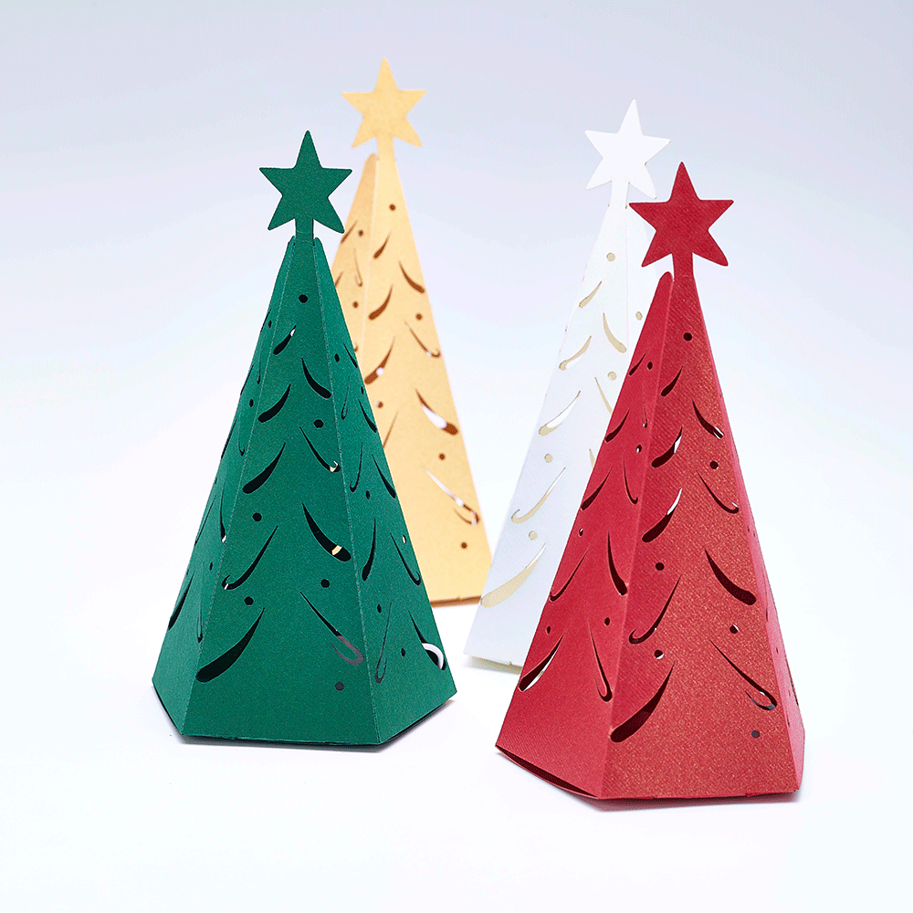 Christmas Tree Favour boxes