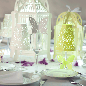 Butterfly glass toppers