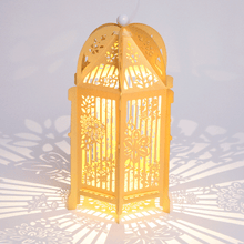 Load image into Gallery viewer, Gold floral birdcage lantern