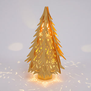 Gold Laser Cut Christmas Tree
