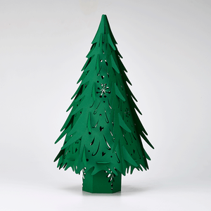 Green paper lasercut Christmas Trees