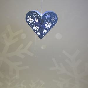 Blue Lasercut Heart