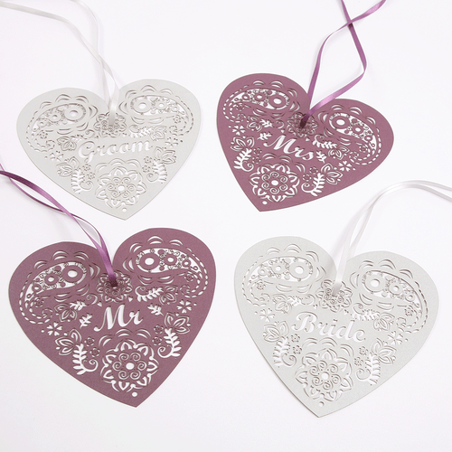 Henna hanging heart decorations