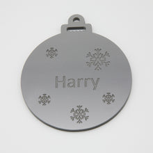 Load image into Gallery viewer, Acrylic lasercut personalised bauble