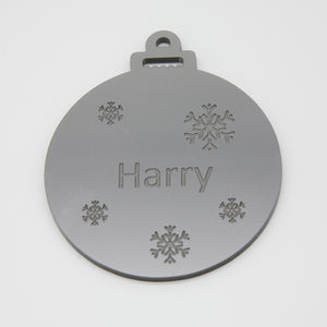 Acrylic lasercut personalised bauble