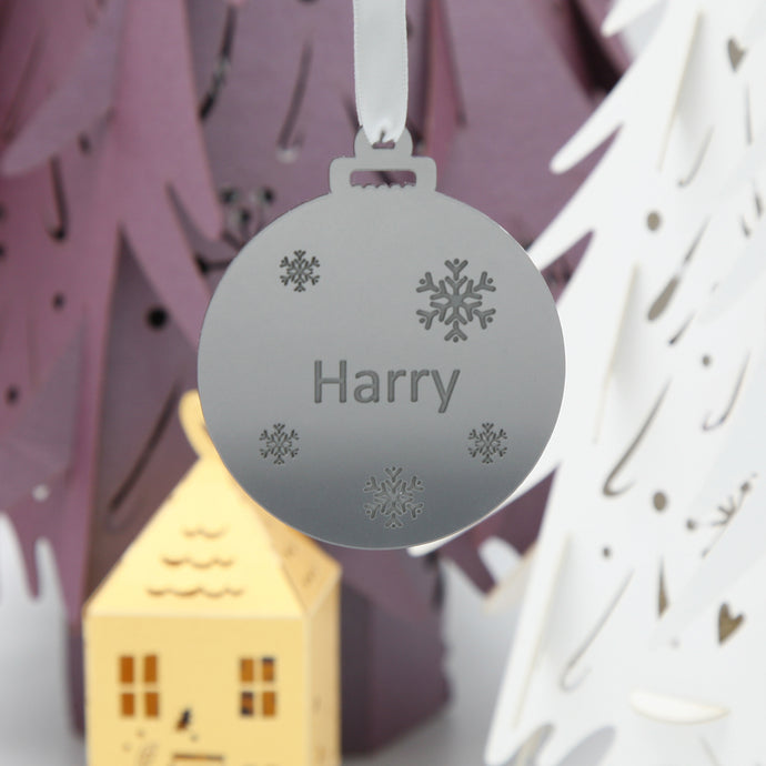 Acrylic personalised bauble