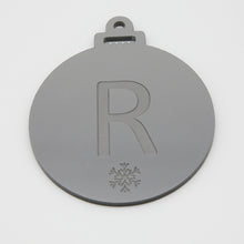 Load image into Gallery viewer, Acrylic Personalised Initial Bauble