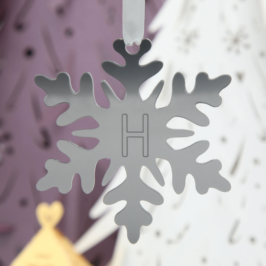 personalised laser cut acrylic snowflake