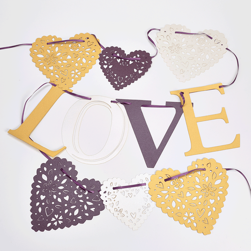 Lasercut wedding bunting