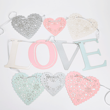 Load image into Gallery viewer, Lasercut pink wedding bunting