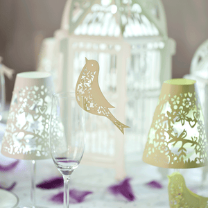 Lovebirds wedding glass decorations