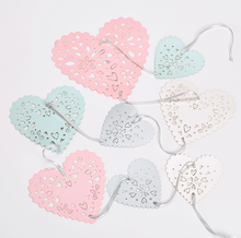 Load image into Gallery viewer, Pastel heart bunting