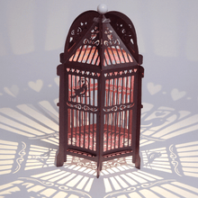 Load image into Gallery viewer, Purple Birdcage Wedding Lantern
