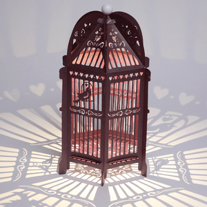 Purple Birdcage Wedding Lantern