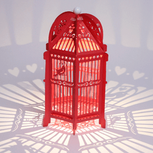 Load image into Gallery viewer, Red Birdcage Wedding Lantern