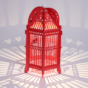 Red Birdcage Wedding Lantern
