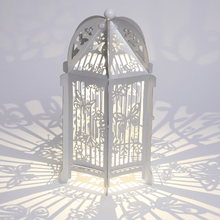 Load image into Gallery viewer, Silver butterfly birdcage lantern