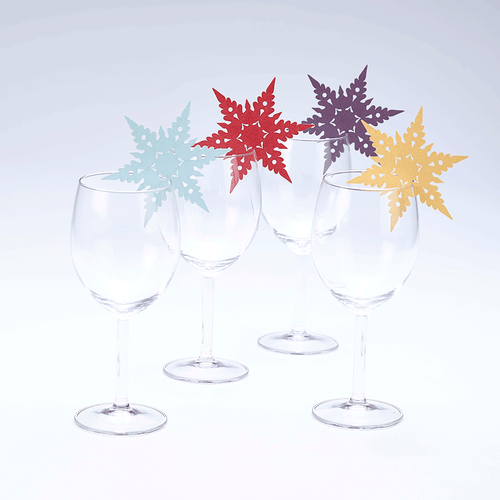 Snowflake Wine Glass Toppers