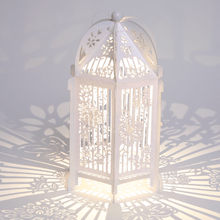 Load image into Gallery viewer, White floral decorated birdcage lantern