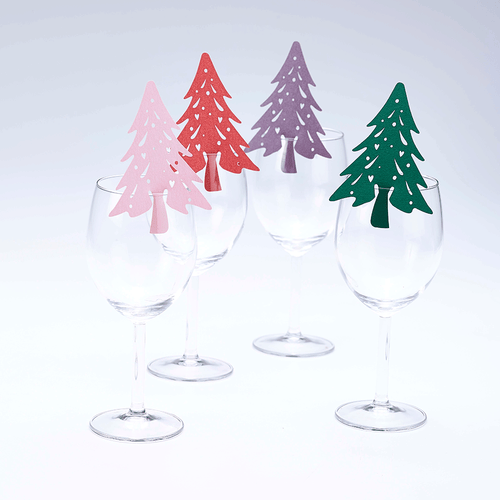 Christmas Tree Wine Glass Toppers (6pcs)