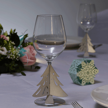 Load image into Gallery viewer, Christmas Tree Glass Stem Decorations