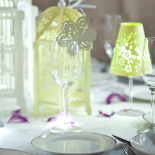 Load image into Gallery viewer, Floral Wine Glass Toppers - Named