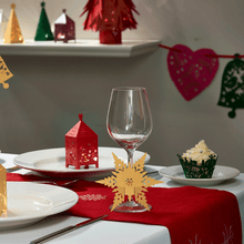 Load image into Gallery viewer, Snowflake Wine Glass Stem Decorations