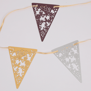 Laser cut coloured lovebirds bunting