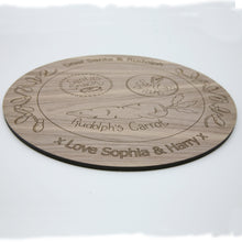 Load image into Gallery viewer, personalised lasercut santa plates