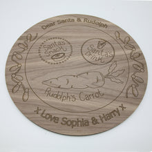 Load image into Gallery viewer, personalised lasercut santa plate