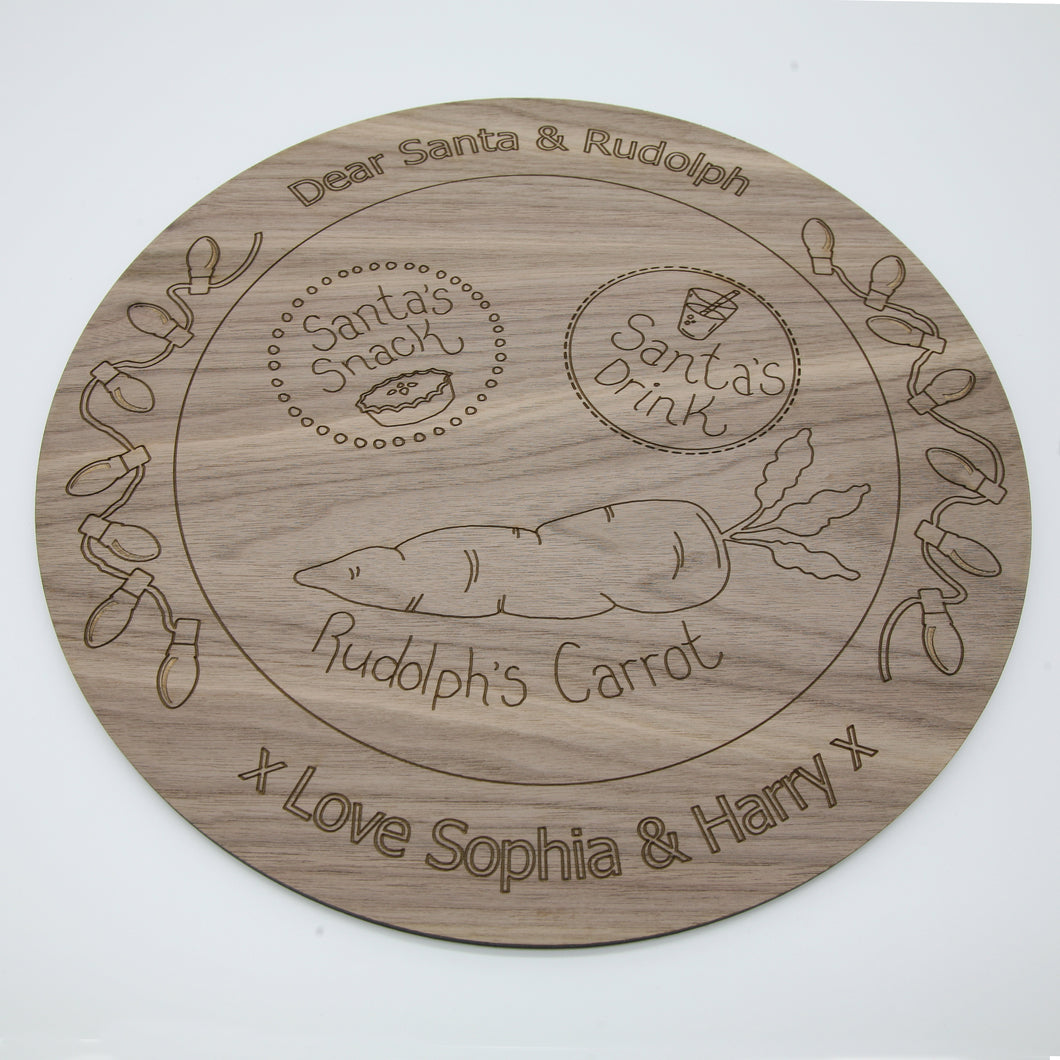 personalised lasercut santa plate