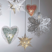 Load image into Gallery viewer, Christmas hanging heart decorations