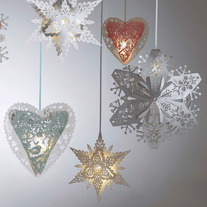 Christmas hanging heart decorations