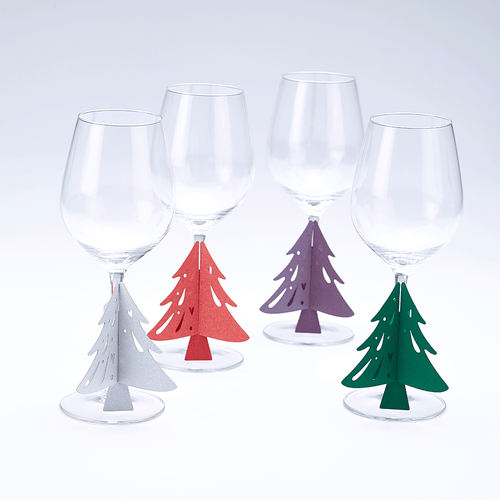 Christmas Tree Glass Stem Decorations