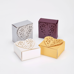 Bold coloured laser cut favours