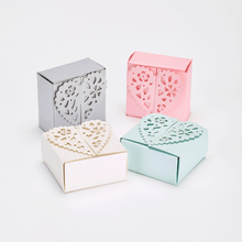 Load image into Gallery viewer, Pastel coloured favour boxes heart shaped