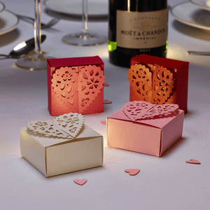 Romantic wedding favour boxes