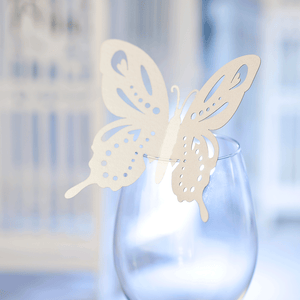 Butterfly glass decorations