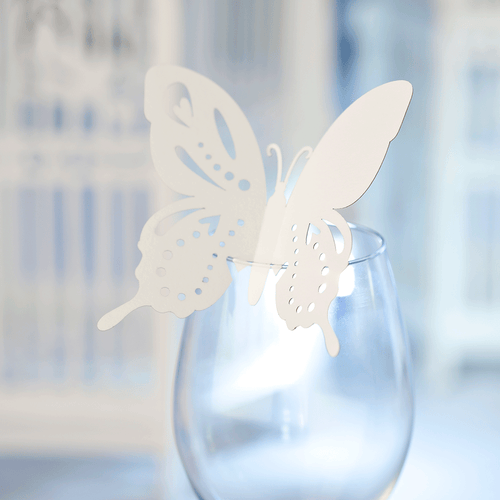 Butterfly table setting decoration