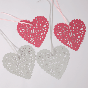 Heart chair decorations