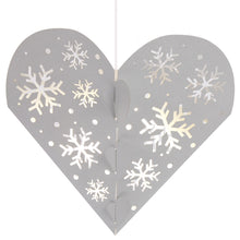 Load image into Gallery viewer, Snowflake Hanging Heart Decoration