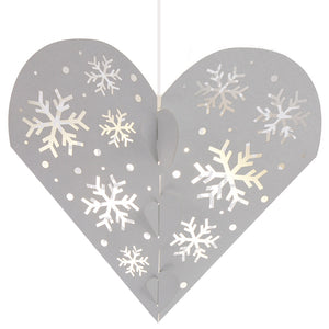 Snowflake Hanging Heart Decoration