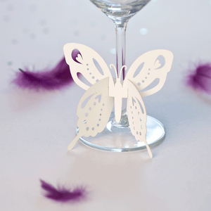 Butterfly wine glass stem decorations