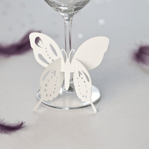 Butterfly wine glass place names