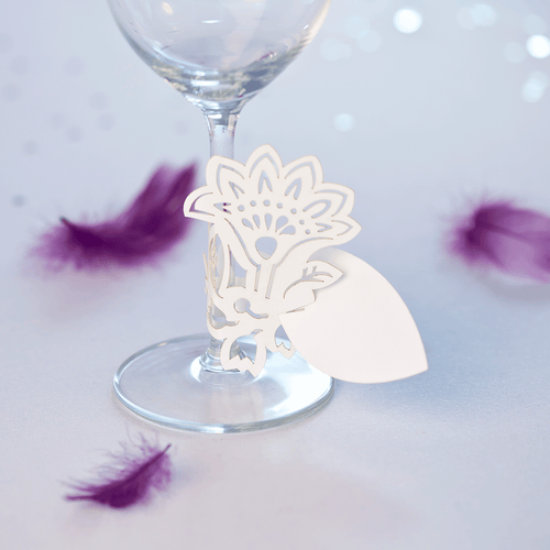 Floral glass stem decoration