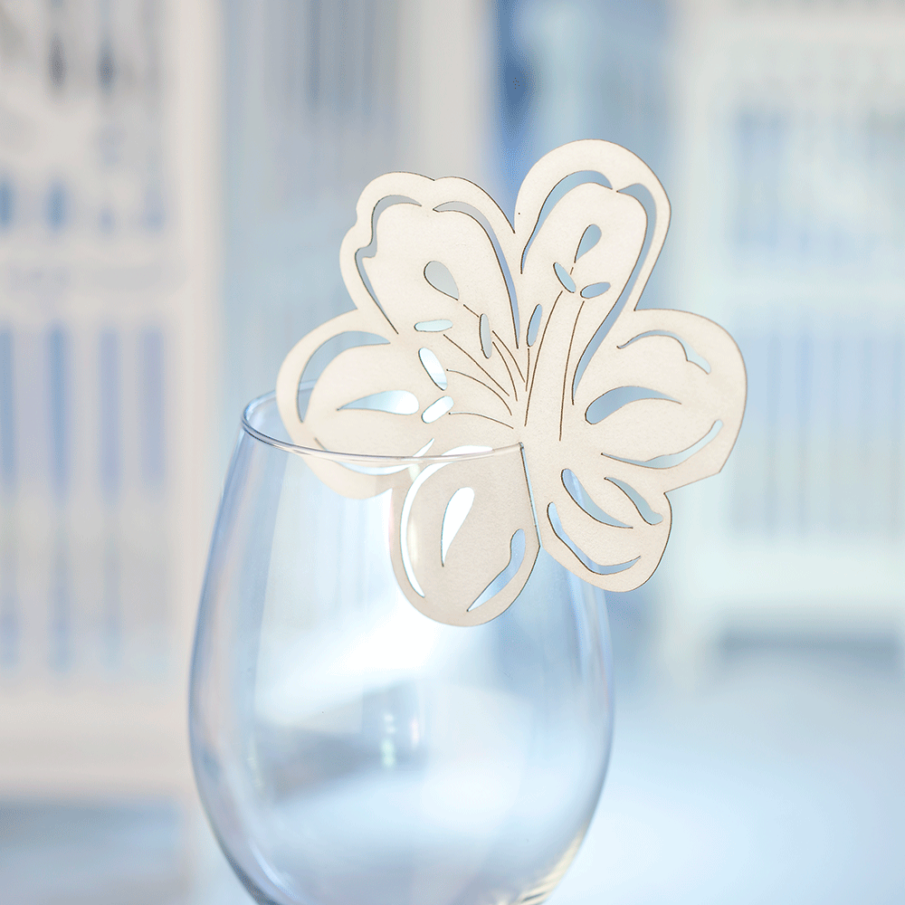 Floral wine glass toppers