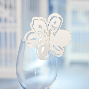 Floral Wine Glass Toppers - Named