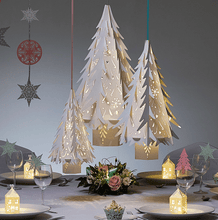 Load image into Gallery viewer, lasercut paper christmas gingerbread place settings
